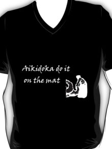 Aikidoka 01- White Graphic T-Shirt