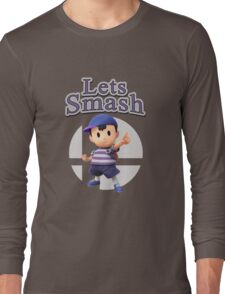 Ness - Super Smash Bros Long Sleeve T-Shirt