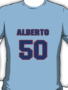 National baseball player Alberto Arias jersey 50 T-Shirt