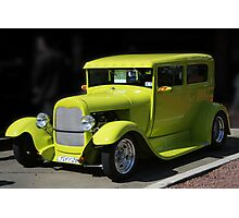 Lime Green Car Photographic Print