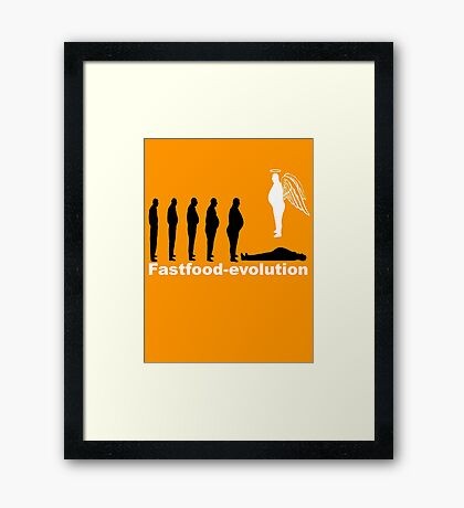 Fastfood evolution Framed Print