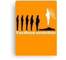 Fastfood evolution Canvas Print