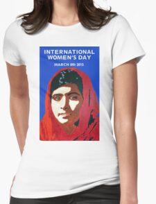 MALALA INTERNATIONAL WOMEN'S DAY Womens Fitted T-Shirt