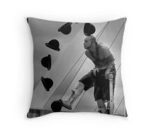 Street Entertainer Throw Pillow