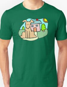 Dog And House T-Shirt