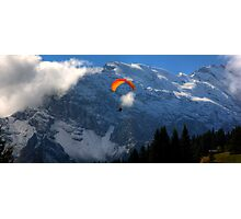 Paraglider 7 - Murren  Photographic Print
