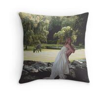 Balance in Nature and Poem by Celena Throw Pillow
