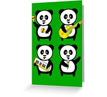 Band of pandas Greeting Card