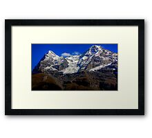 Eiger & Jungfrau  Framed Print