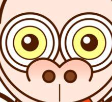 Funny brown monkey feeling crazy in love Sticker