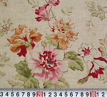 Fat Quarter - Japanese Linen Cotton Blended Fabric - Beautiful Roses by cottonbreak