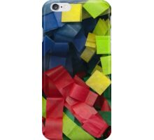 Colorful cut tissue paper iPhone Case/Skin