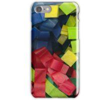 Colorful cut tissue paper iPhone Case/Skin