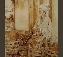 Woman in market Ubud by Suryani Shinta