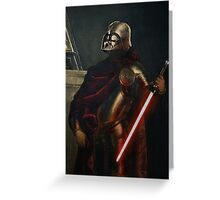 Darth Vader - Portrait (As a Knight) Greeting Card
