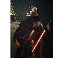 Darth Vader - Portrait (As a Knight) Photographic Print