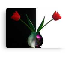 Vase With Tulips Canvas Print