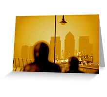 London Docklands The City - Peter Burke Greeting Card