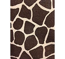 Textured Giraffe Print Photographic Print