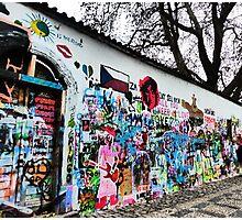 Lennon Peace Wall Photographic Print