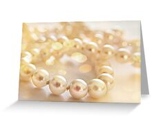 Just Pearls Greeting Card