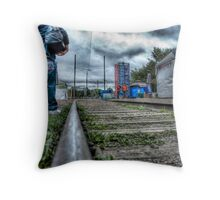 Peace Begins Here... Throw Pillow