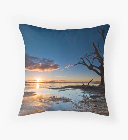 Lake Bonney Sunset Throw Pillow