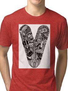 Monogram Letter V Tri-blend T-Shirt