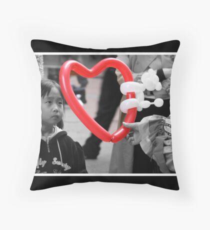 innocent heart Throw Pillow