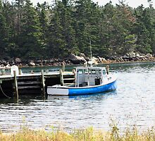 Blue Boat by HALIFAXPHOTO