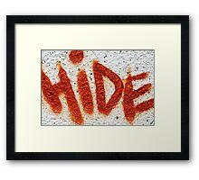 Hide the Graffiti! Framed Print