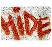 Hide the Graffiti! Poster