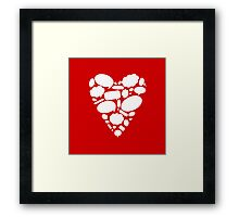 Hearts Thoughts Framed Print
