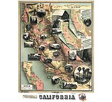 California - United States - 1888 Photographic Print