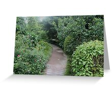 Pathway Through Forest Greeting Card