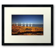 Port Noarlunga Jetty by night Framed Print