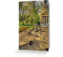 Legislature Grounds Series #3 Greeting Card