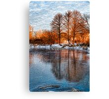 Cold Ice Trio - Lake Ontario Impressions Canvas Print