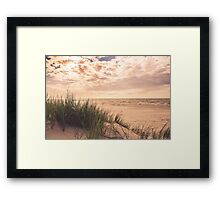 Romantic and calm seaside in summer Framed Print