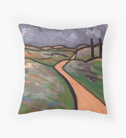 Cornish tin mines Throw Pillow
