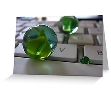 Apple Keyboard Marbles Greeting Card