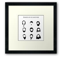 Beards of Ice and Fire Framed Print