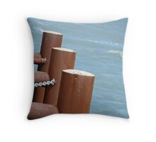 Posts of the Pier Throw Pillow