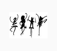 Four abstract dancers, ink painting with enhanced contrast. T-Shirt