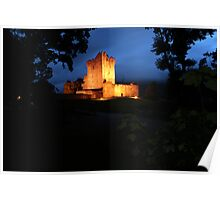 Ross Castle night view Poster