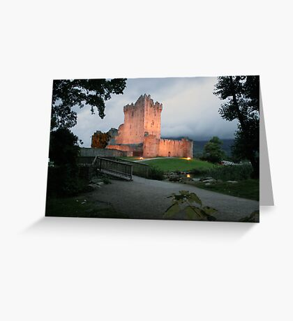 Ross castle evening view Greeting Card