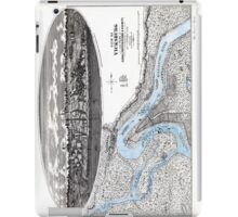Vicksburg-Fortifications map-Mississippi-1863 iPad Case/Skin
