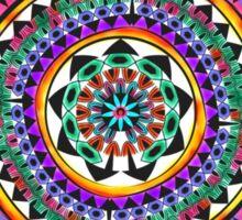 Vivid Colorful Whimsical Ornament Mandala Sticker