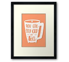 My cup of tea Framed Print