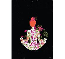 flower meditation in pink and purple Photographic Print